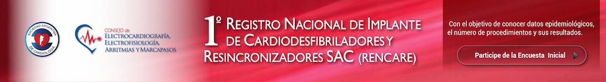 1° Registro Nacional de Implante de Cardiodesfibriladores y Resincronizadores